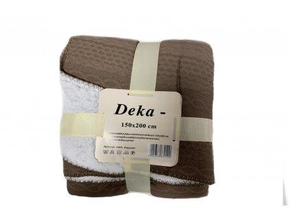 deka pletený vzor hnědá