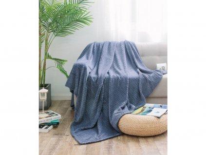 deka velvet mikroplyš tmavě šedá