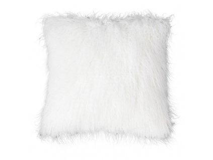 povlak na polštář chlupatý bílý
