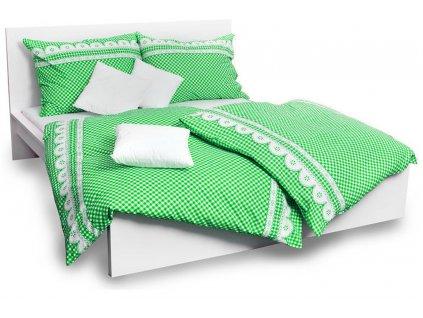 povlečení bavlna kanafas zelené