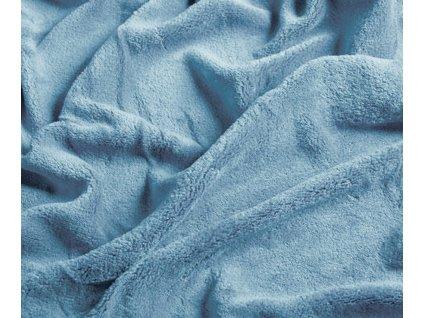 prostěradlo mikroplyš svtle modrá
