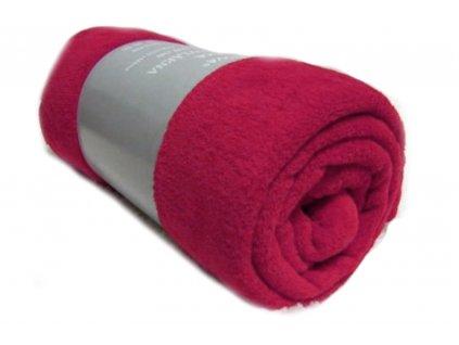 deka mikrovlákno tmavě růžová