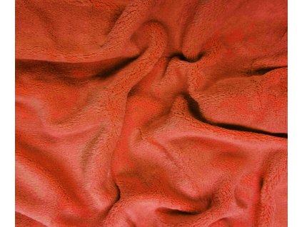 prostěradlo mikroplyš oranžové