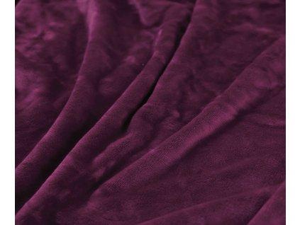 deka mikroplyš tmavě fialová