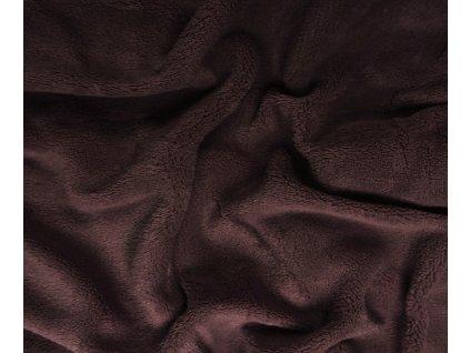 deka mikroplyš tmavě hnědá