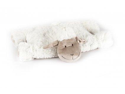 Polštářek ovečka sepínací na suchý zip bílá 52x38cm