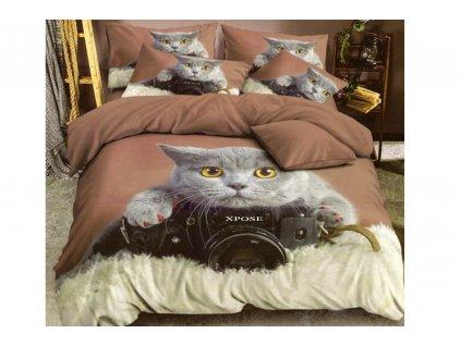 POVLEČENÍ 3D kočka foťák