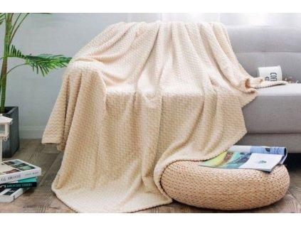 deka mikroplyš velvet krémová