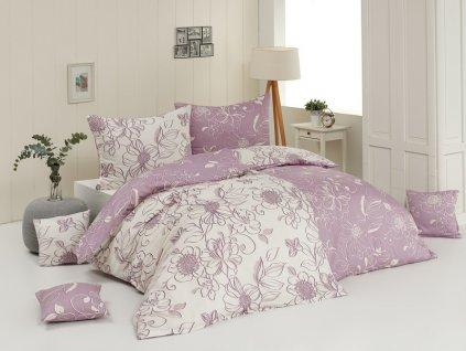 povlečení krep damien matějovský růžovo fialové