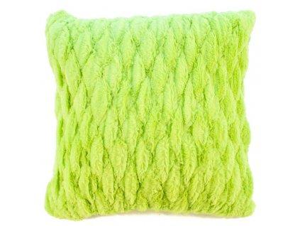 povlak na polštář chlupatý zelený