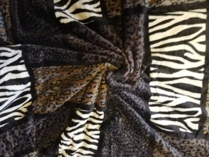 deka mikrovlákno safari černo hnědá