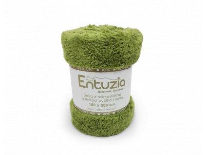 deka entuzia chlup zelená