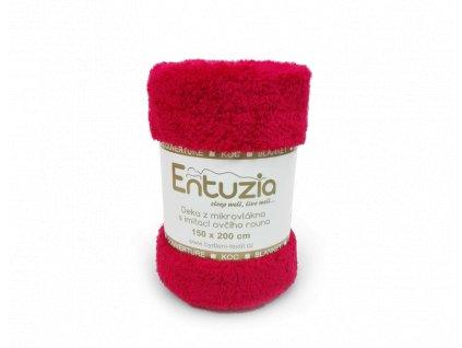 deka entuzia chlup červená