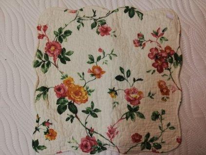 povlak na polštář provence růže zelený