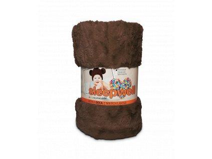 dětská deka sleepwell ovečka hnědá