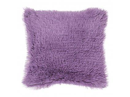 povlak na polštář dlouhý chlup fialový