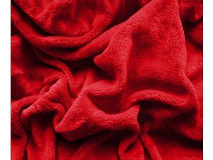 prostěradlo mikroplyš červená