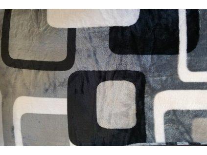 deka mikrovlákno okna šedá