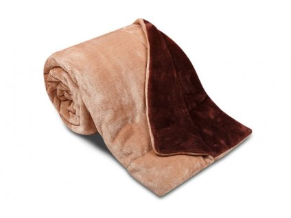deka mikrovlákno oboustranná sleep well ester hnědá čoko