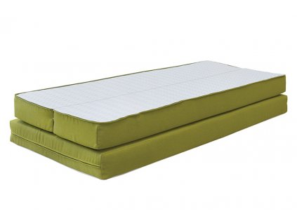 matrace rozkládací lucida do rozkládací postele duovita zelená