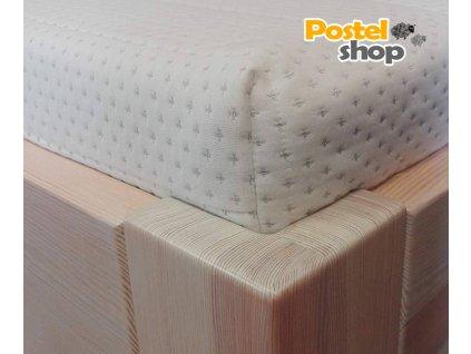 Potah na matraci Lurex se stříbrným vláknem