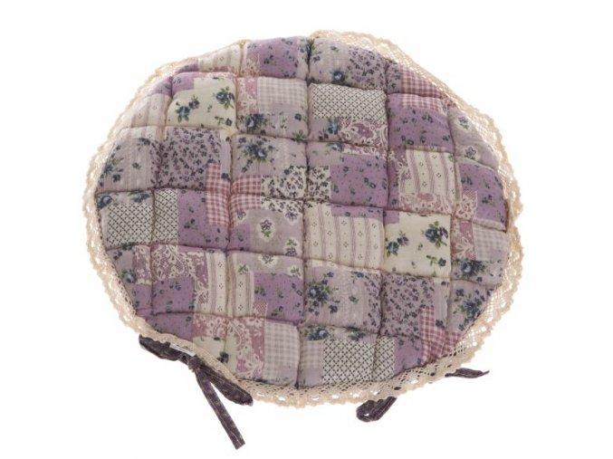 sedák provence rrůžový s krajkou