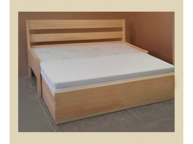 rozkládací postel double bez uložného prostoru