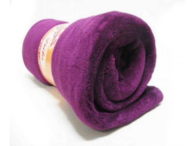 deka mikrovlákno fialová