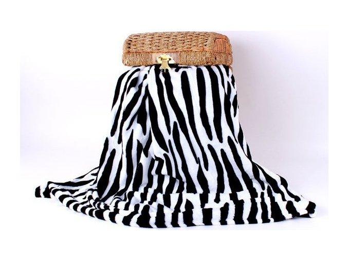 Deka mikroflanel zebra 200x230cm