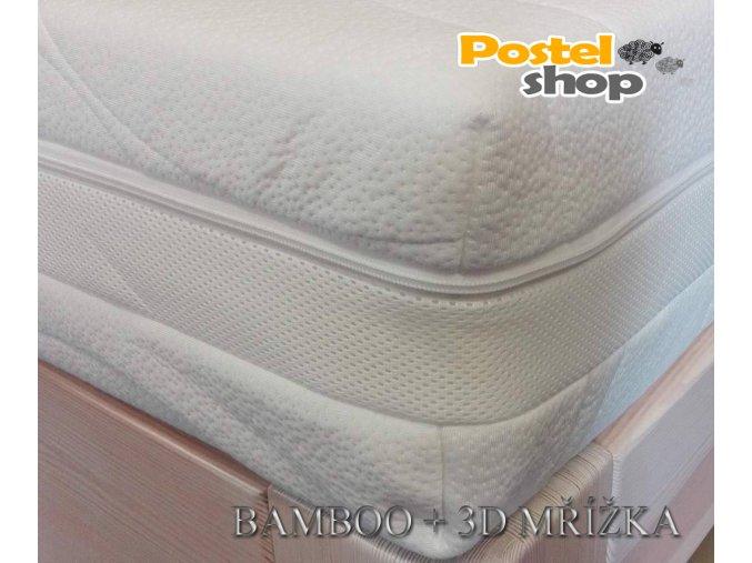 potah na matraci bamoo + 3d mřížka