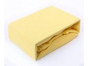 prostěradlo jersey žluté