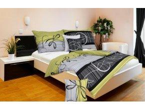 Ložní povlečení bavlna Karoline Eternity design zelené
