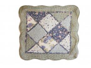 povlak na polštář provence patchwork modrý