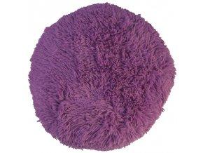 puf chlupatý fialový