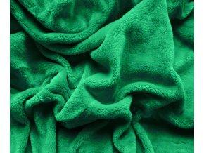 deka mikroplyš zelená tmavá