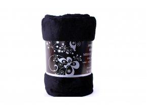 deka mikroflanel černá