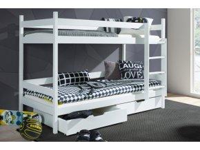 patrová postel typ 2 masiv bílá