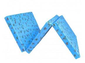 skládací matrace do postýlky modrá