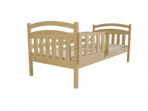 dětská postel Monika se zábranou masiv borovice