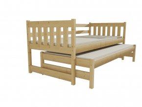 dětská postel Jana s přistýlkou borovice masiv