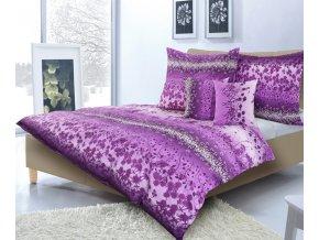 karoline povlečení fialové kvítky