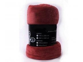 deka mikrovlákno červená cihlová