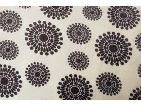 deka mikroflanel květy černé