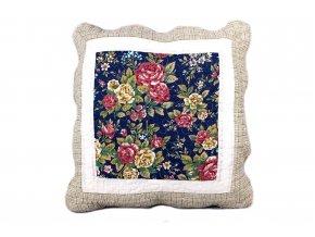 polštářek provence květovaný modrý