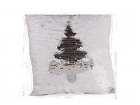flitrové polštář měnící bílo stříbrný