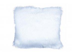 povlak na polštář kožešinový bílý