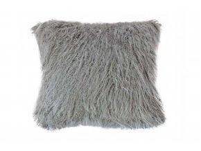 povlak na polštář chlupatý šedý