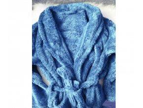 župan mikrovlakno modrý