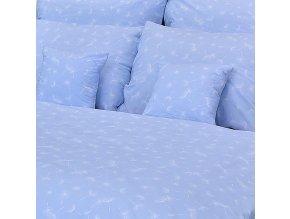 Ložní povlečení bavlna pápěří modré