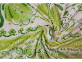 deka mikroflanel cibulák zelený